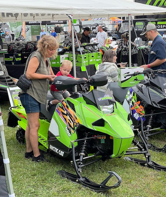 It made me happy to see so many kids flock to our snowmobiles. Makes me feel good about the future of snowmobiling